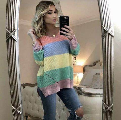Billie Candy Stripe Jumper Knit